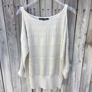 White House Black Market Cold Shoulder Sweater M